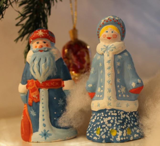 Фигурки дед мороз и снегурочка своими руками